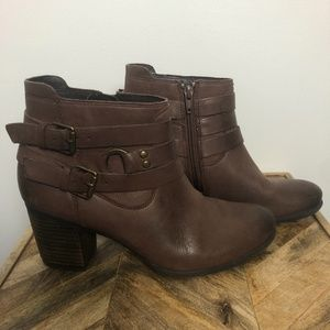 Josef Seibel Brown Leather Ankle Booties